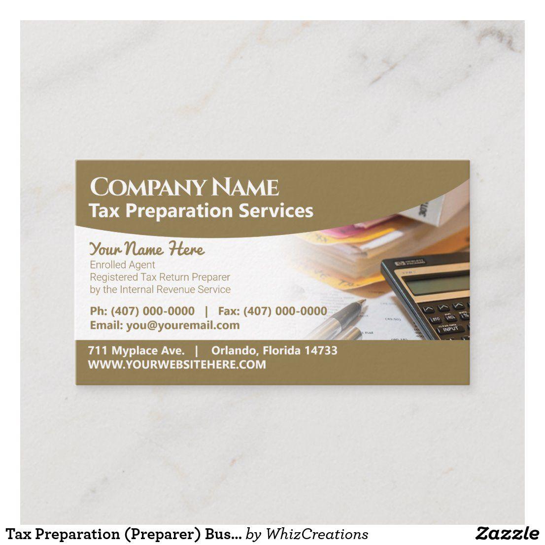 Tax Preparation Preparer Business Card Zazzle Com Tax Preparation Preparation Business Cards