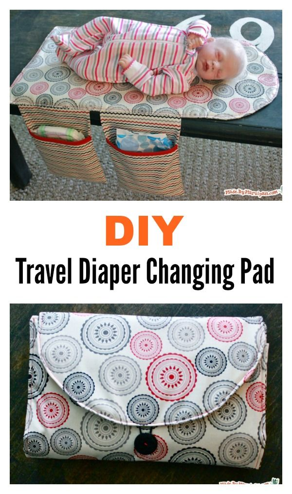 DIY Travel Diaper Changing Pad and Clutch Bag | Geschenkideen ...