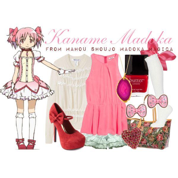 Puella Magi Madoka Magica Kaname Madoka Comic Cos Costume Suits Piece Dress