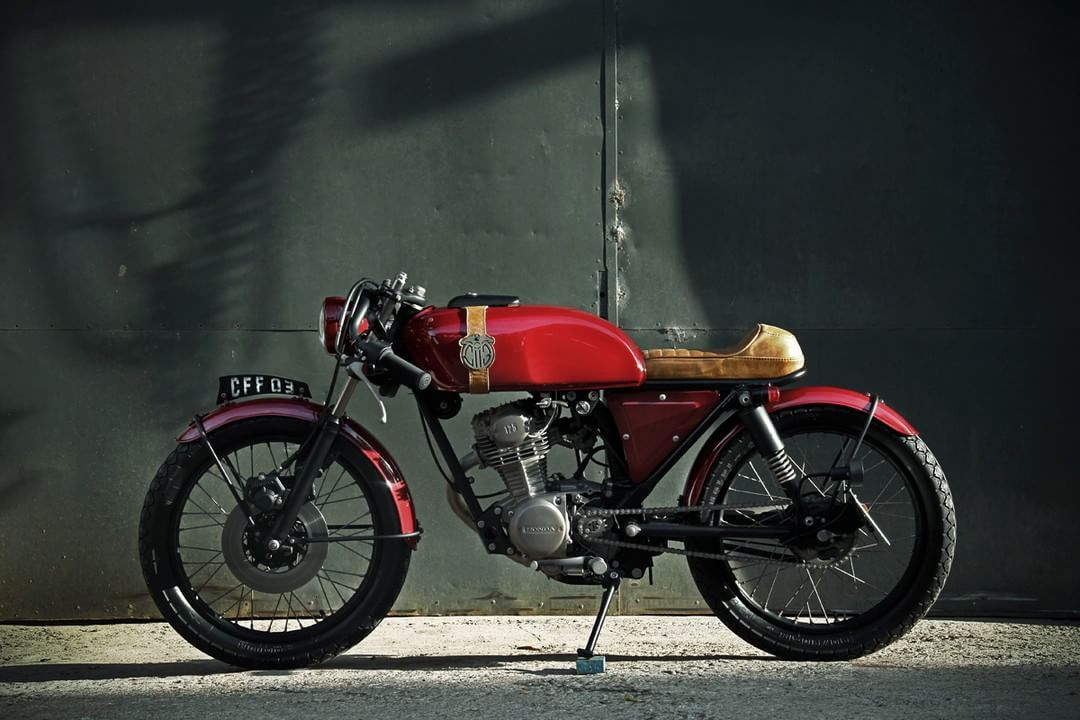 honda turuna 125 cafe racer by caffeine custom. Black Bedroom Furniture Sets. Home Design Ideas