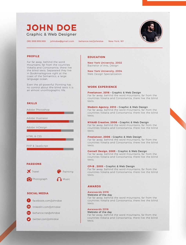 accent color modern resume design - Vatoz.atozdevelopment.co