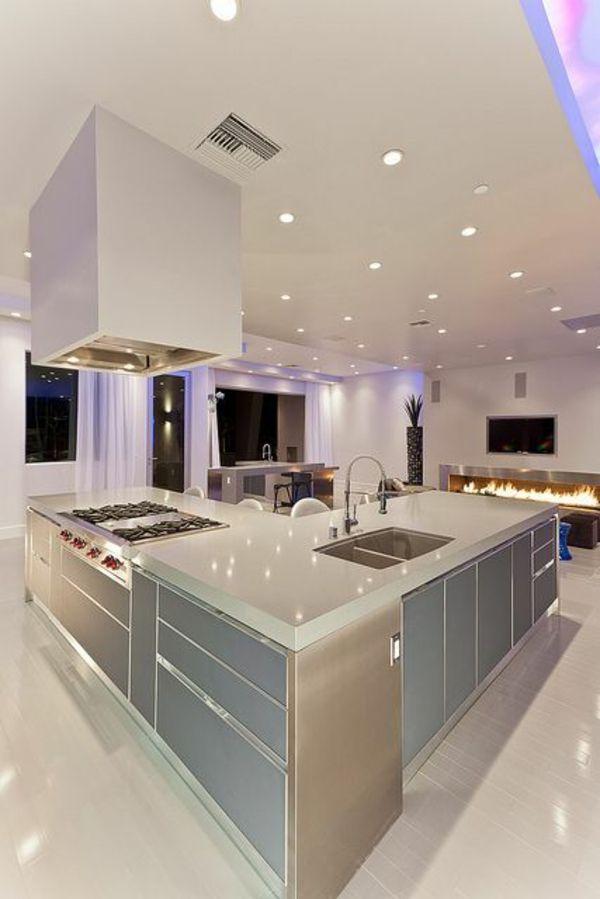 GroB 90 Moderne Küchen Mit Kochinsel Ausgestattet