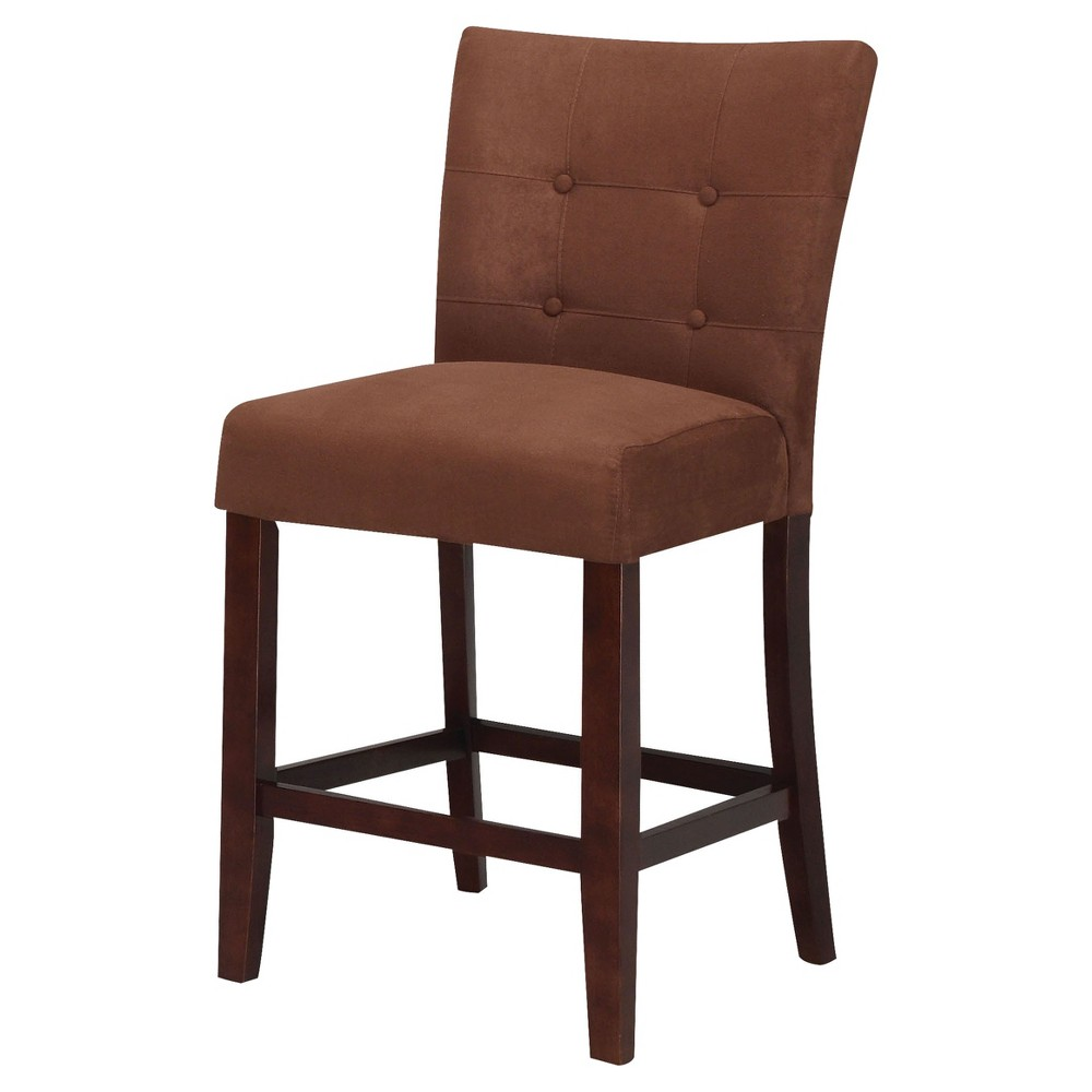 Gratto 24 Chocolate Faux Leather Swivel Counter Stool 8f703