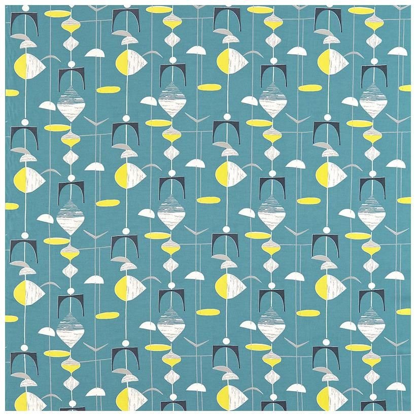 Lovely 50s Fabric Patterns Sanderson 50s Mobiles Fabric Great Ideas