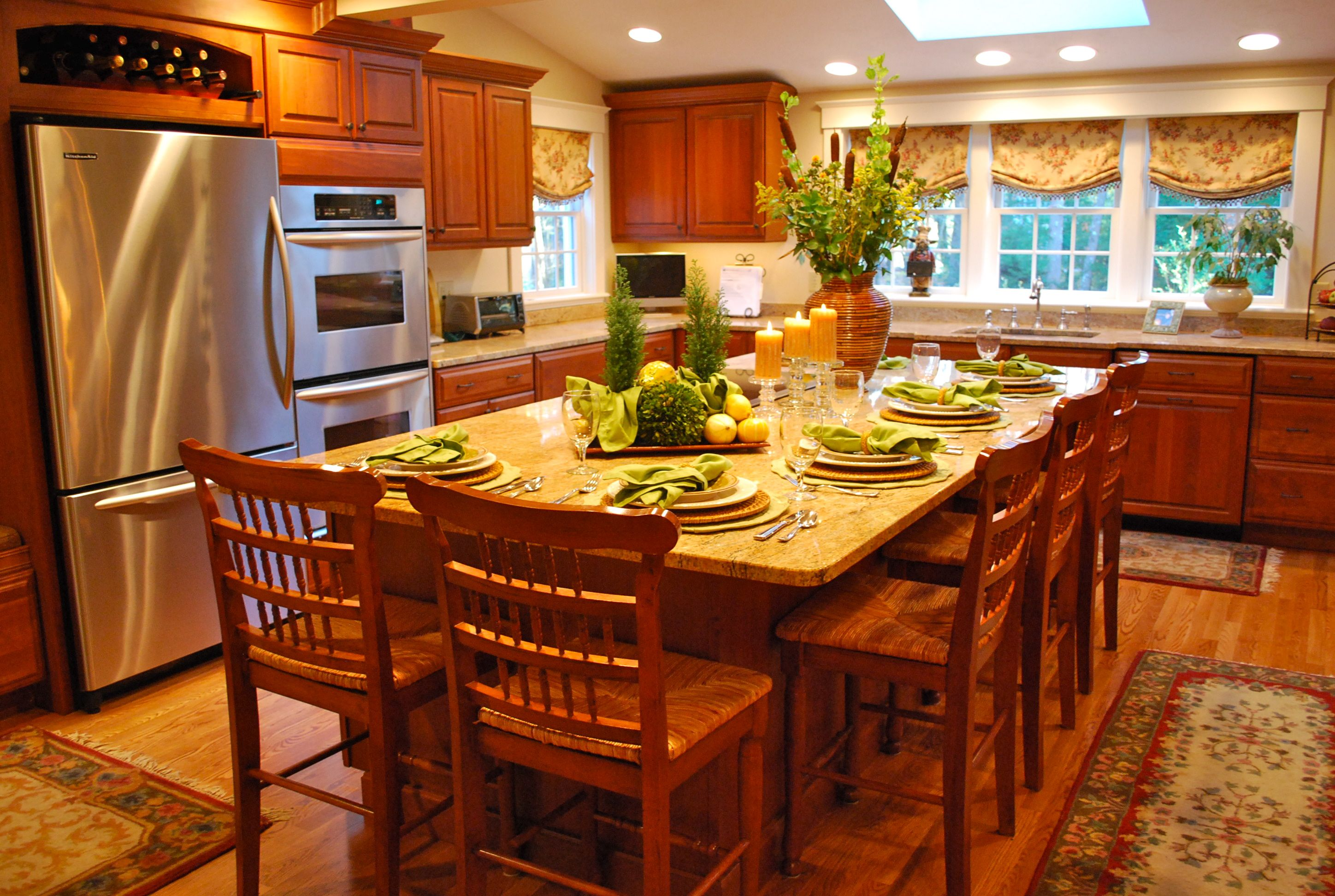 Best Traditional Kitchen With Cherry Cabinets Cherry 400 x 300