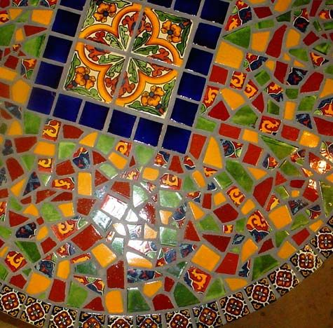 mexican tile mosaic tabletop
