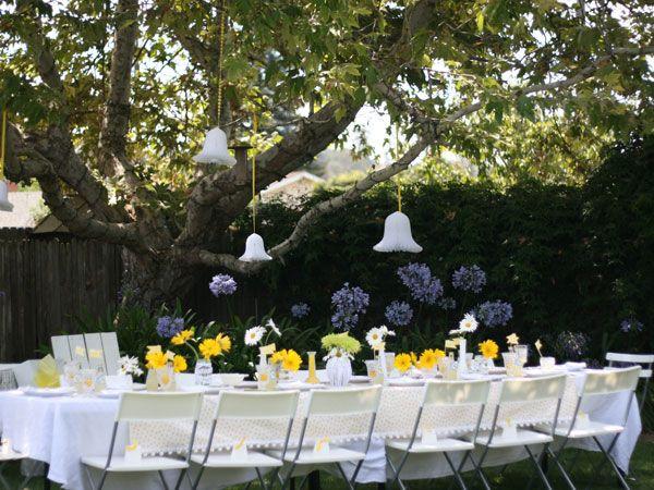 Nice Yellow Themed Bridal Shower