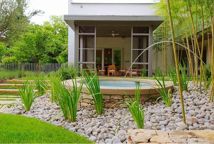Landscapg rock colorado river rock gravel flower bed - Rock bed landscaping ideas ...