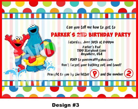 Sesame Street Invitation Elmo Invitation Cookie Monster Big – Printable Elmo Birthday Invitations