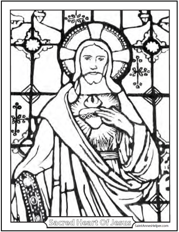 heart and jesus coloring pages - photo#18