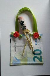 Eine Geldgeschenkarte gebastelt für einen Geburtstag…..Shopping Geld…. – #c…