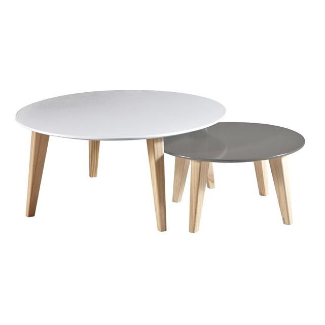 Table Basse Gigogne Rondo 179 Table Basse Table Basse Scandinave Table Basse Ronde