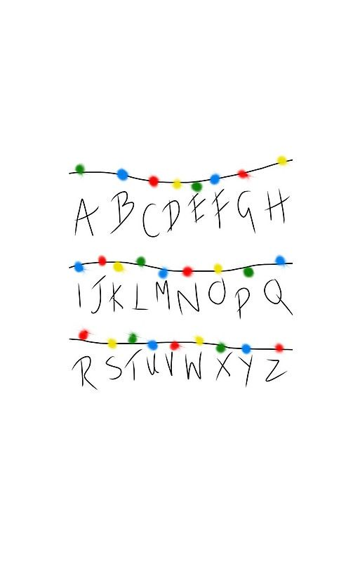Stranger things alphabet lights stranger things for Fondo de pantalla stranger things