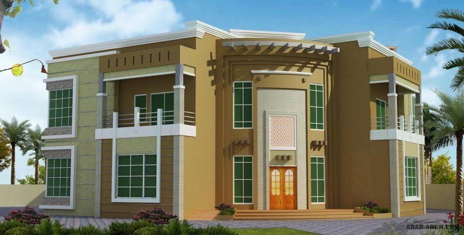 خرائط الفيلا Ha 07 4 غرف نوم سكن أبعاد المسكن 25 42م عرضx24 77م عمق Architectural House Plans Classic House Design Square House Plans