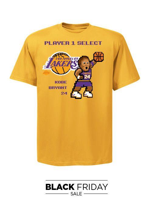 b92e6f714bc Los Angeles Lakers Kobe Bryant 8 Bit Double Dribble T-Shirt – Lakers Store  2XL