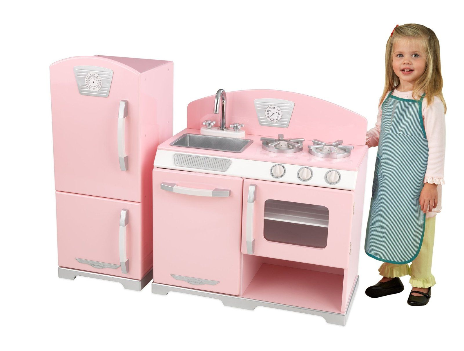 KidKraft Pink Retro Kitchen and Refrigerator - Free Shipping