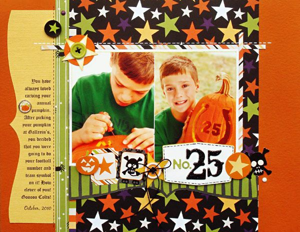 No 25 Scrapbook Bazzill Basics Spooky And Kooky Collection