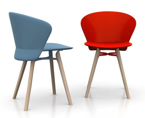 Sedia Panton Trasparente : È proposta da calligaris la sedia bahia design di dondoli pocci