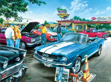 Retro 10 Car Show At The Drive In 108 Pieces Jigidi Puzzles
