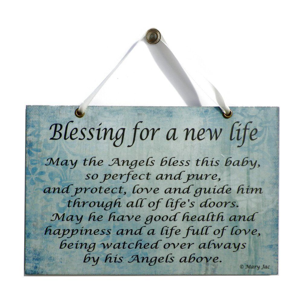 Angel Quote Blessing For A New Life Handmade Home Sign 560 Amazon