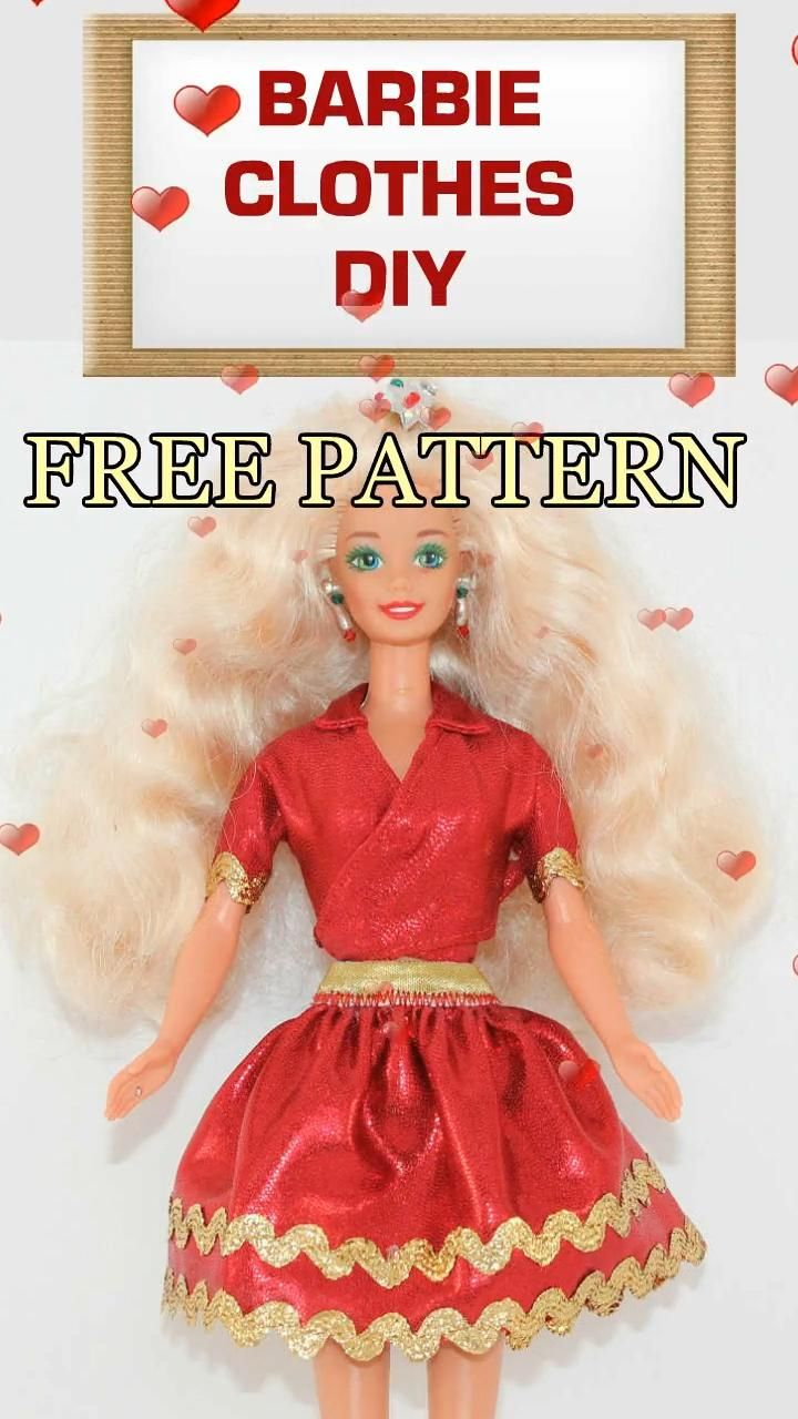 DIY Barbie clothes - a video sewing tutorial plus free patterns in PDF and SVG