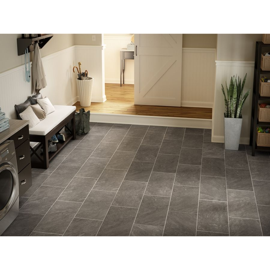 149 style selections 1283 in w x 427 ft l glentanner slate 149 style selections 1283 in w x 427 ft l glentanner slate embossed tile laminate flooringkitchen dailygadgetfo Choice Image
