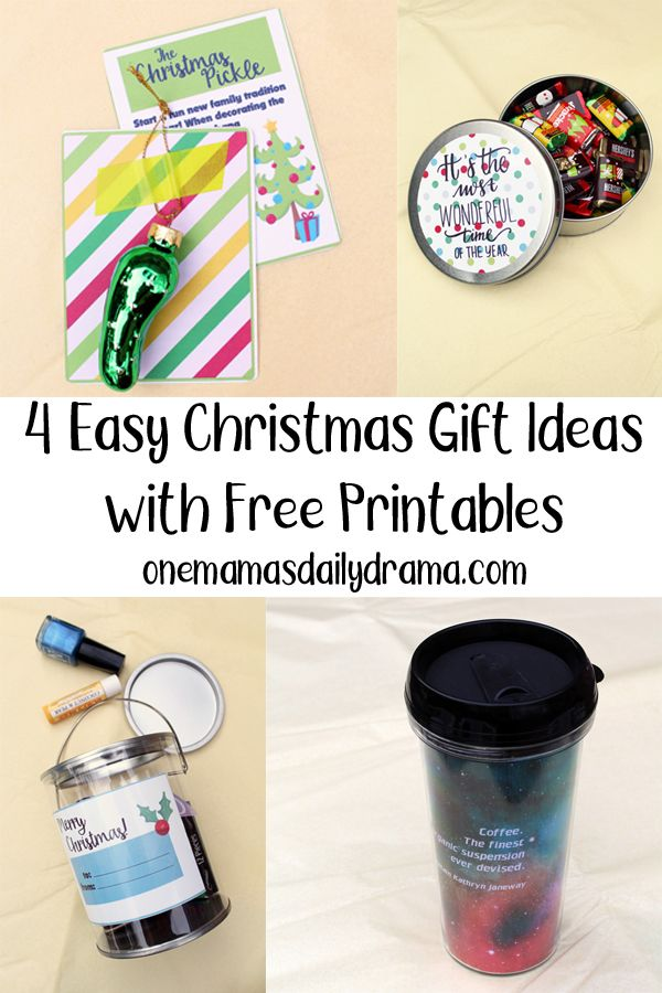 4 Easy Christmas Gift Ideas With Free Printables