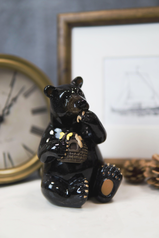Bear eating honey statue in 2020 bear statue boring