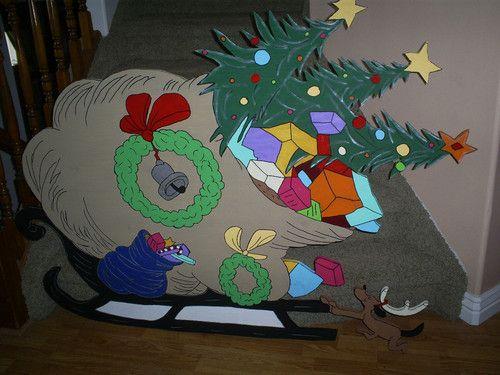 Grinch Sleigh Ebay Grinch Christmas Decorations