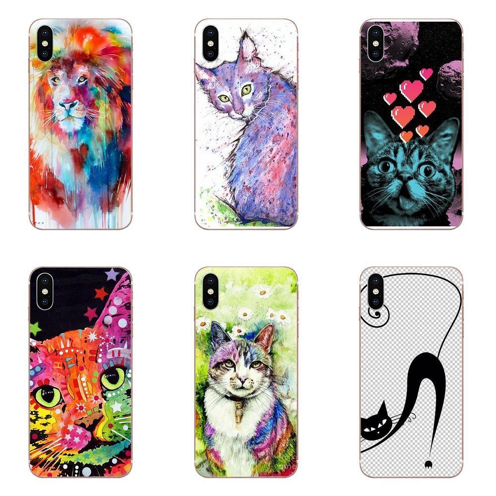 Fancy Cat Pop Art Cat For Huawei Nova 2 V20 Y3II Y5 Y5II Y6 Y6II Y7 Y9 G8 G9 GR3 GR5 GX8 Prime 2018
