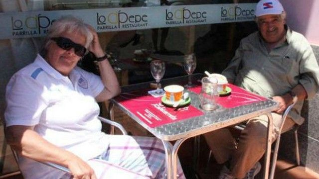 President Mujica of Uruguay with his wife Lucia having coffee in a very Swedish way for being a politician!