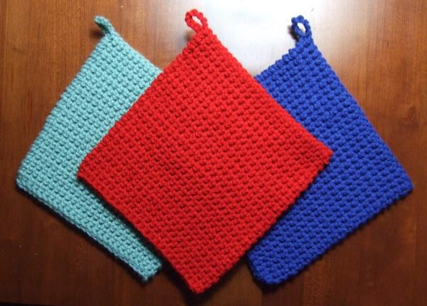 Pot Holder Knitting Pattern : Best 25+ Crochet potholder patterns ideas on Pinterest Free pads, Beginner ...
