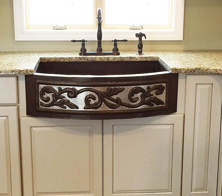 Our Rounded Front Two-Tone Scroll Farmhouse Sink, Plus A