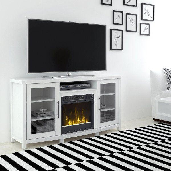 White Tv Stand With Fireplace 54 Inch Rossville White Tv Stands Fireplace Tv Stand Family Room Design