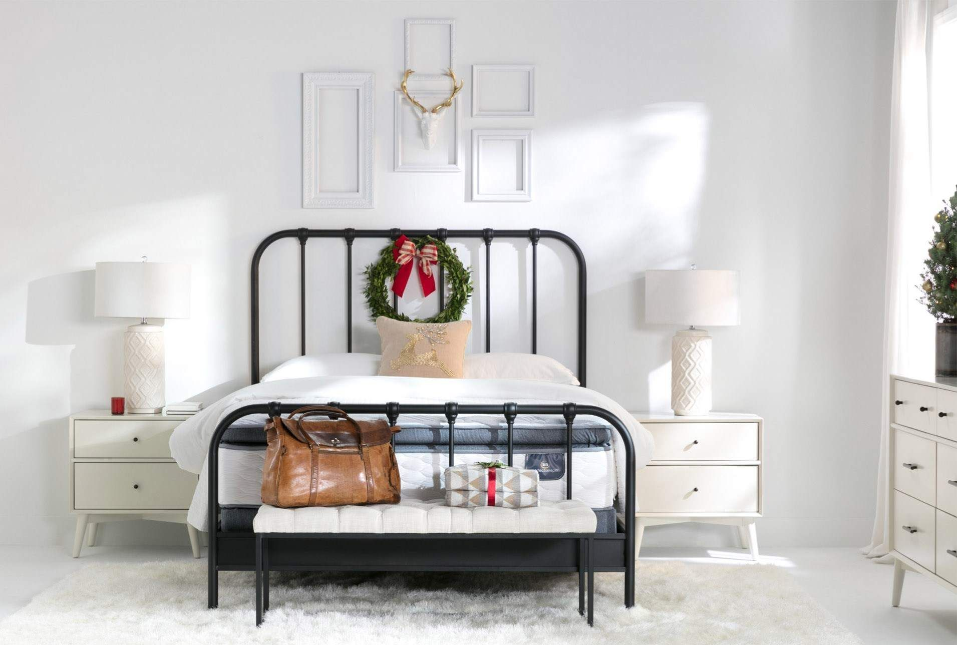 Knox Queen Metal Panel Bed Farmhouse Bedroom Decor Bedroom