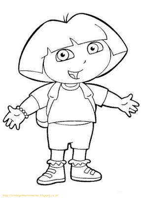 Aneka Gambar Mewarnai 10 Gambar Mewarnai Dora Untuk Anak Paud Dan