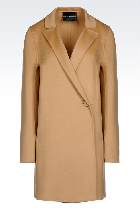 Emporio Armani Women Single Breasted Coat - CASHMERE COAT Emporio ...
