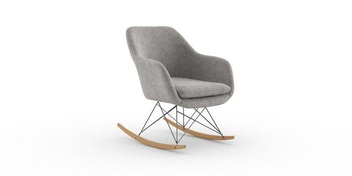 Buy Dottie Rocker Chair (1 Seat) Wool Blend Grey Light ...