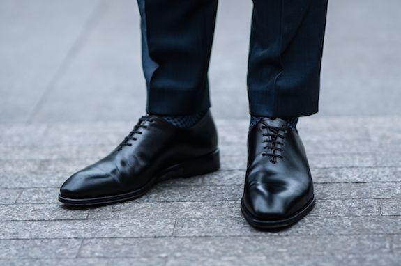 Granatowy Garnitur Gentlemen Dress Shoes Men Dress Shoes Oxford Shoes