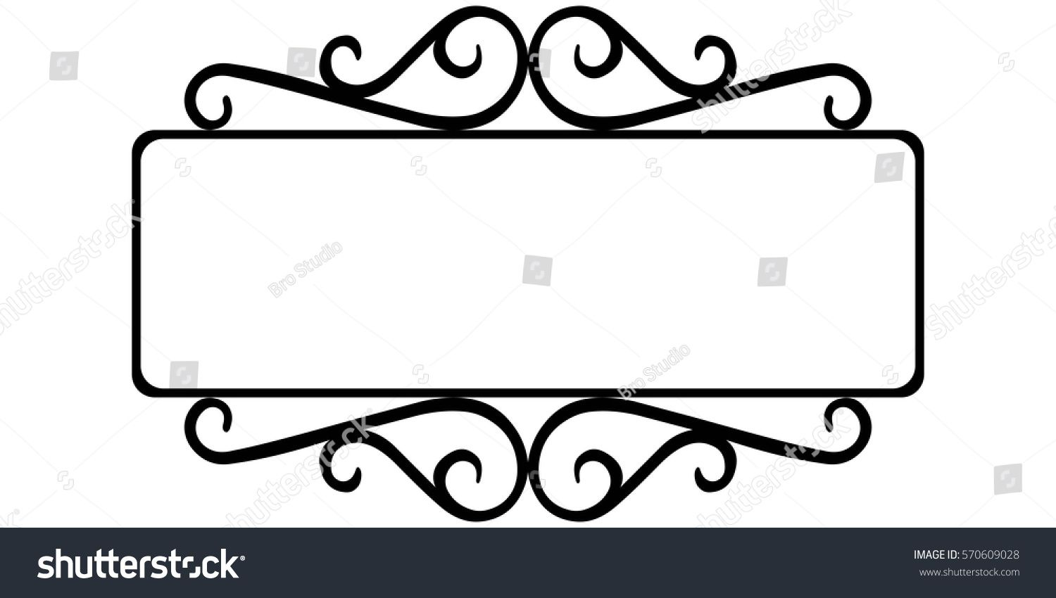 vintage wrought iron frame, the template for the signs of an ...