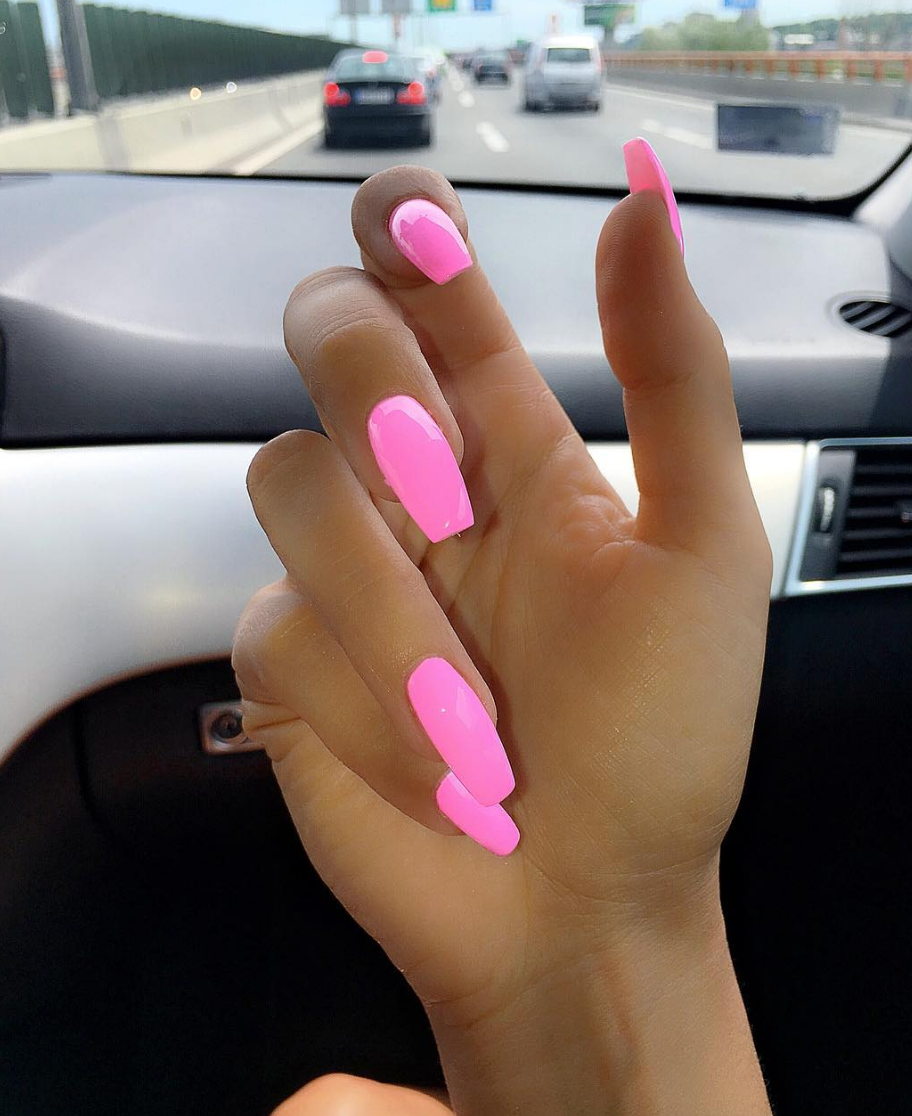 Pinterest 18redhead Pink Acrylic Nails Summer Nails Colors Designs Summer Acrylic Nails