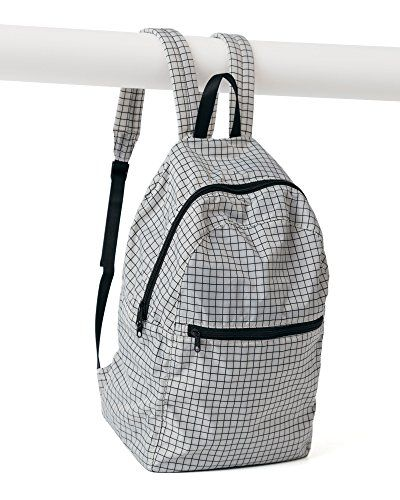 35ee0b58044a BAGGU Ripstop Nylon Backpack Grey Grid * Continue to the product at ...