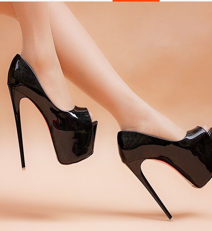 d7916da38140 New Women High Heel Stiletto Peep Toe Platform Sexy 16cm Nightclub Casual  Shoes  Unbranded  HighHeel