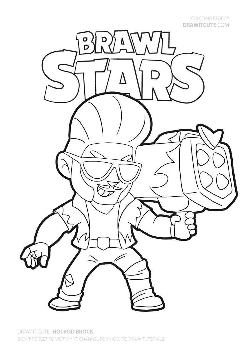 Hot Rod Brock Coloring Page Brawlstars Coloringpages Fanart