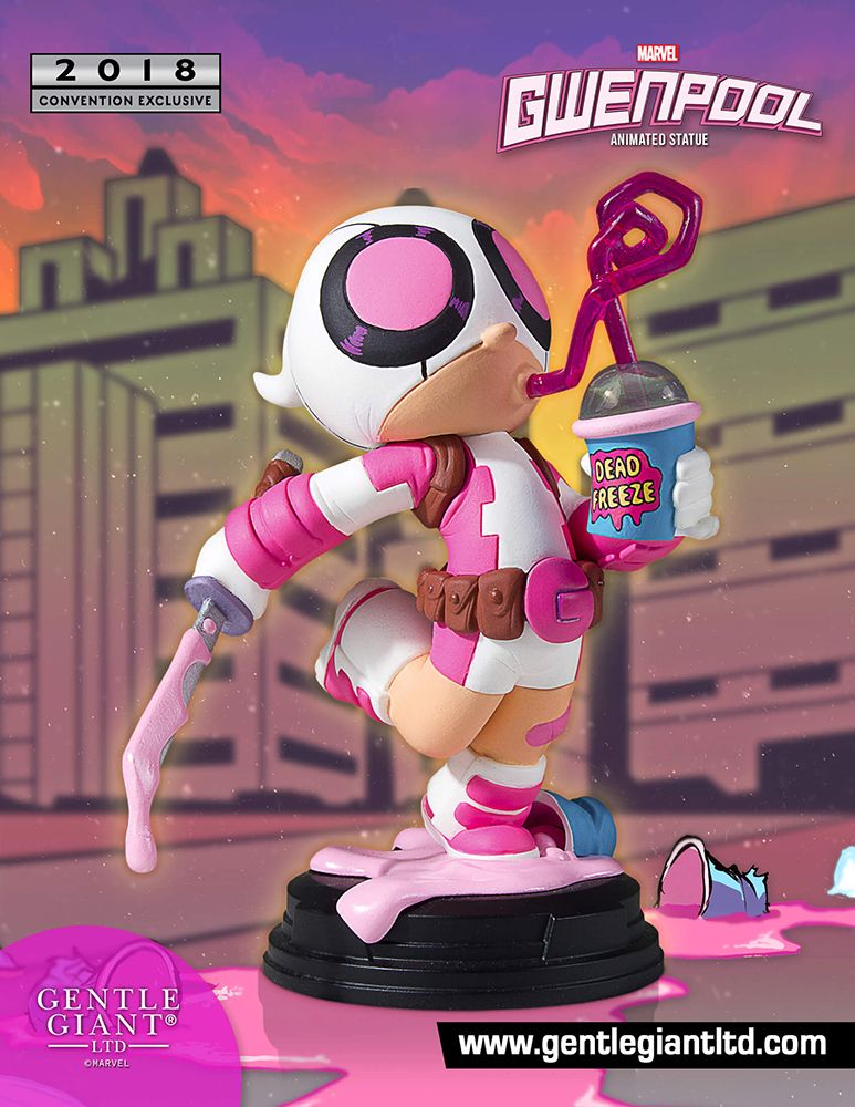 With San Diego Comic Con Nearly Here Marvel Com Has The Scoop On A Convention Exclusive That Gwenpool Fans Are Sure To B Marvel Animation Marvel Gentle Giant