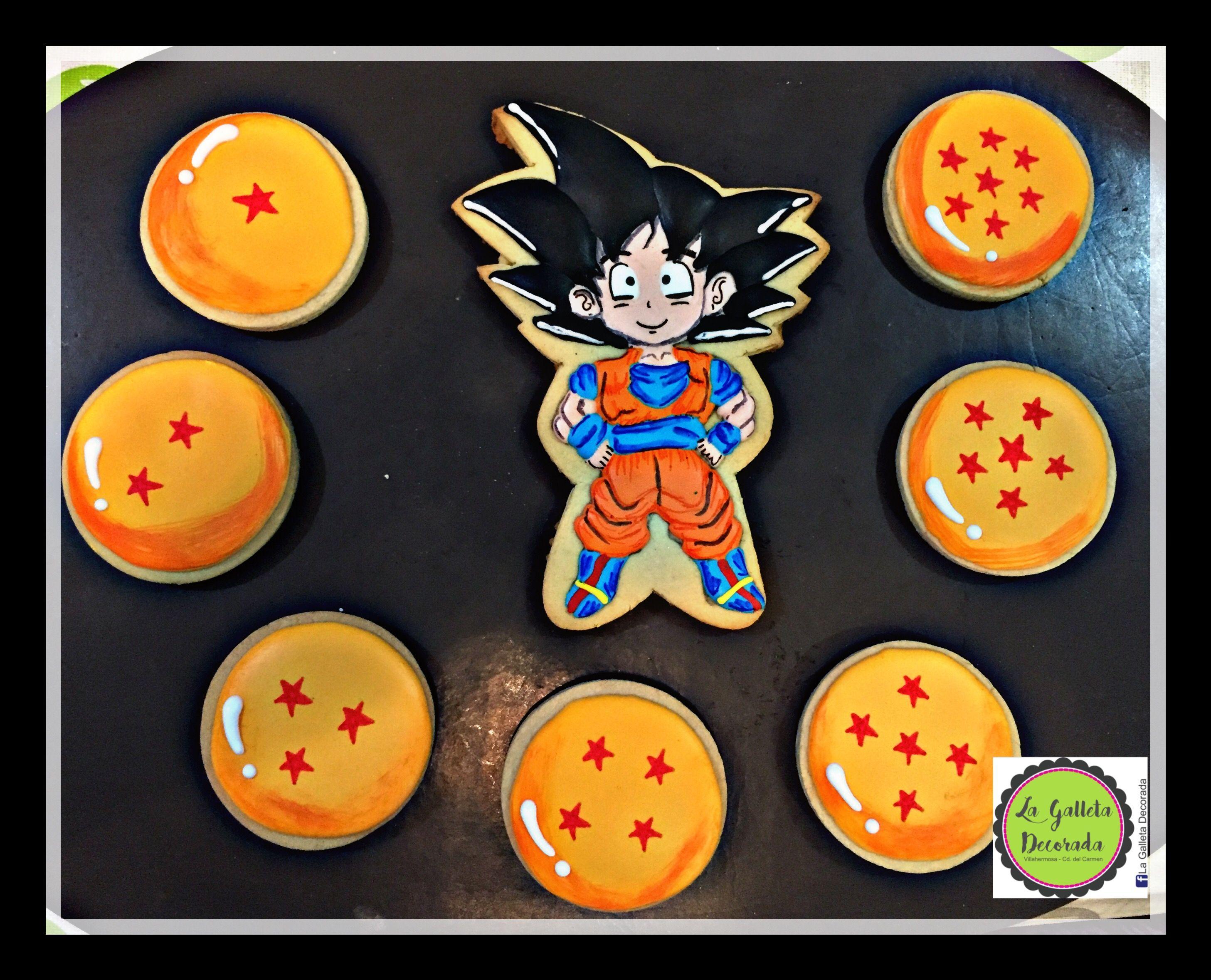 Galletas Goku Esferas Del Dragon Galletas Decoracion De Galletas Galletas Decoradas