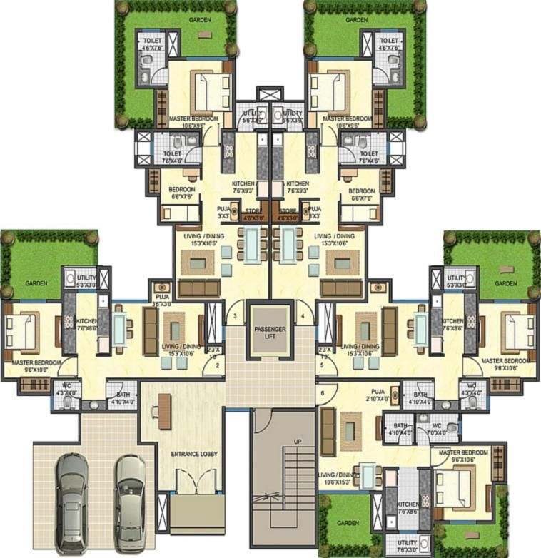 Home and Apartment, The Excellent Design Of Apartment Floor Plan ...
