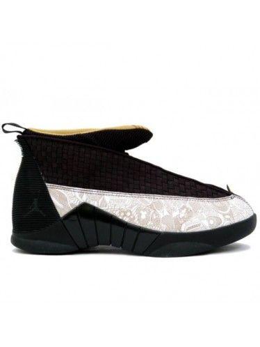 ea36f9fac16095 317274 071 Air Jordan 15 Retro Laser Black   Gold