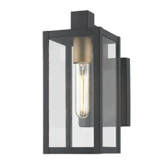 Modern Outdoor Wall Light Black 17 25 Inches Tall At Destination Lighting Modern Outdoor Wall Lighting Exterior Light Fixtures Modern Exterior Lighting