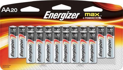 Energizer Max Aa Batteries 20 Pack E91lp 20 Best Buy In 2021 Energizer Cool Things To Buy Aa Batteries